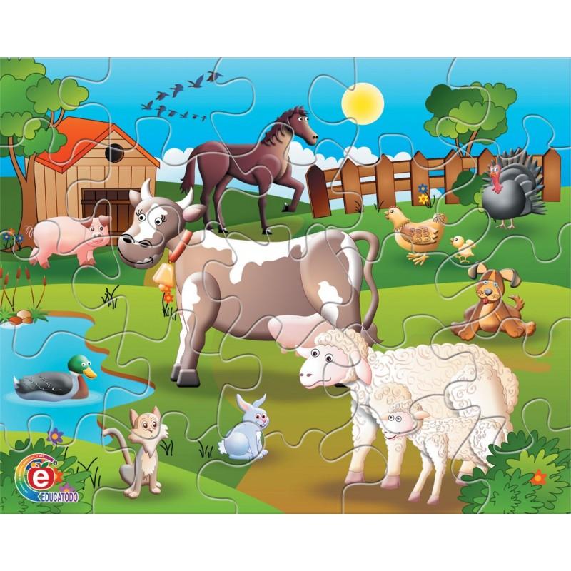 Rompecabezas animales domesticos en caja de carton educatodonayarit - Caja rompecabezas ...